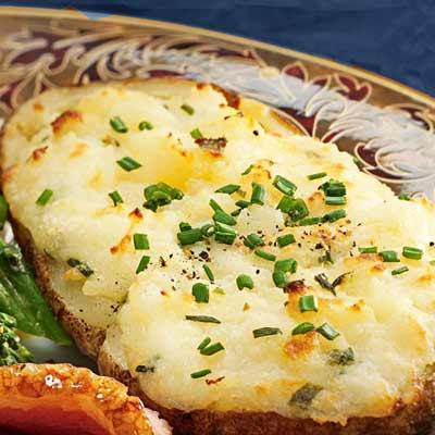 Receta de patatas rellenas con queso cabrales